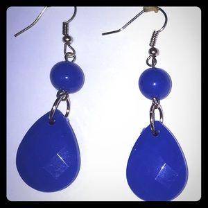 💥BOGO💥 Cobalt Blue Resin Drop Dangle Earrings